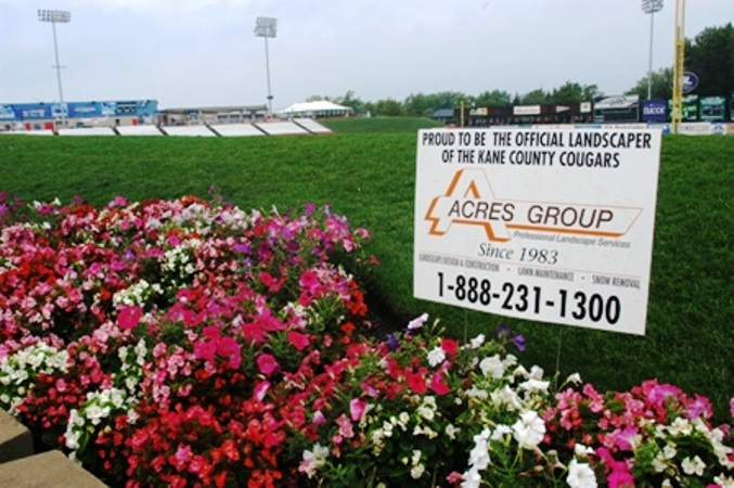 Proud To Be The Official Landscaper Of The Kane County Cougars