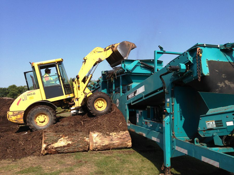 "Re-purposing landscape waste — making compost — staying ""Green""!"