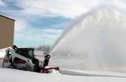NCB tractor with snowblower